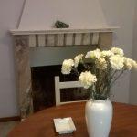 Blue Apartment flowerpot on dinner table